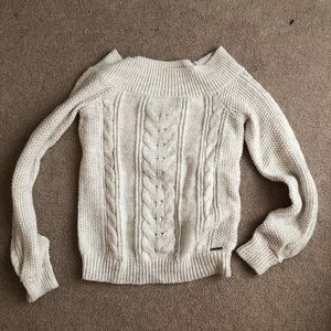 Abercrombie Off Shoulder Knit Sweater, XS